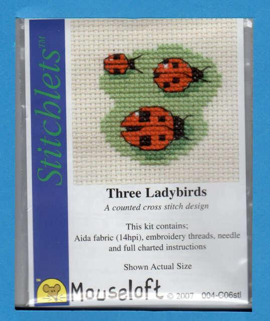 Mouseloft stitchlets CROSS STITCH KIT ~ RED DRAGON ~ NUOVO