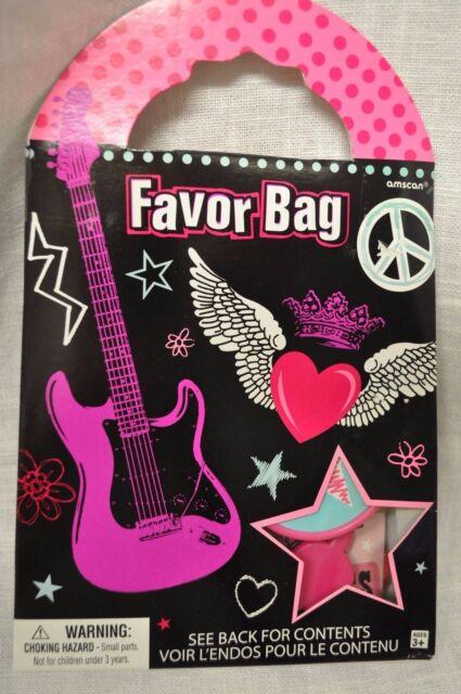 Rocker Party Favor Bag With Favors