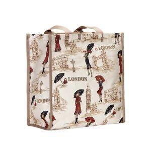 Signare Miss London Gobelin Einkaufstasche Big Ben Londonbus Beutel Shopper