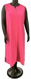 New-44-Value-Denim-amp-Co-XXS-Summer-Pink-Sleeveless-Perfect-Jersey-Maxi-Dress