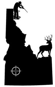 Elk Hunting Window Decal In Rut Elk Head