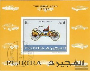 Fujeira-Block40B-complete-Edition-oblitere-1971-Voitures