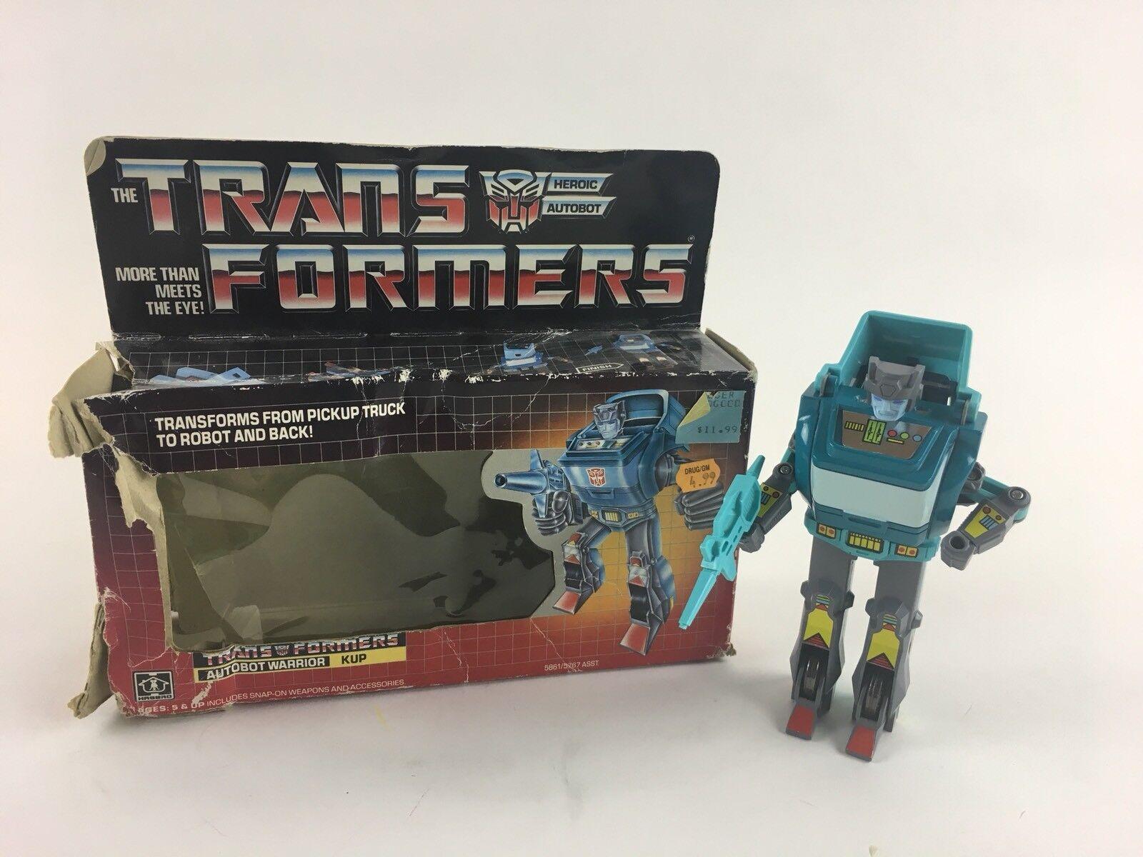 Vintage Original Transformers G1 Heroic Autobot Warrior KUP 1986 Hasbro with scatola