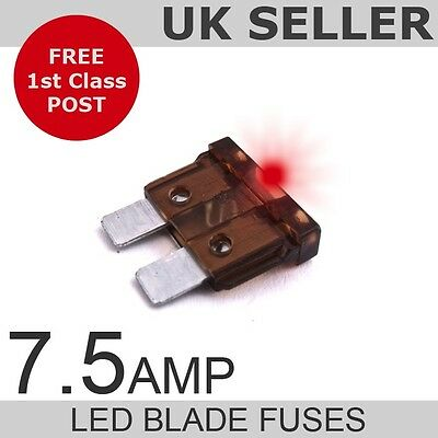 LED 7.5A Amp Standard Blade Fuses *Quantity 10*