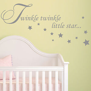 Beautiful Image Is Loading Baby Wall Sticker Quote Twinkle Twinkle Stars Child  Part 15