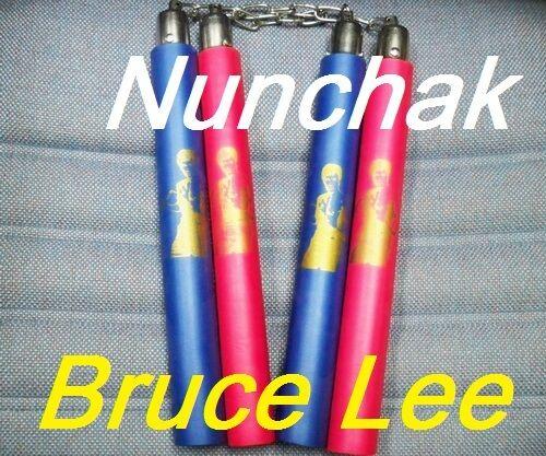 Play Training Tool Foam Padded Nunchaku w// Metal Swivel /& chain Kung Fu