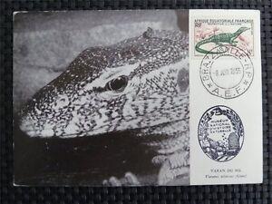 FRANCE-MK-1955-AFRIQUE-REPTIL-VARAN-NIL-MAXIMUMKARTE-MAXIMUM-CARD-MC-CM-c1185