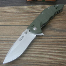 Sanrenmu LAND 9054LUC-GP Liner Lock pocket knife Green G10 Handle Folding Knife