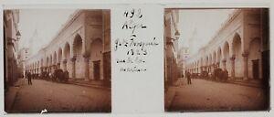 Algeri-Grande-Moschea-Rue-Algeria-Foto-Placca-Da-Lente-Stereo