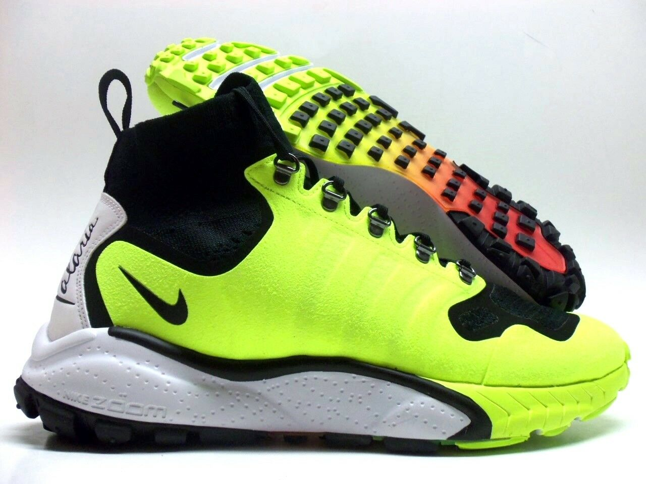 NIKE ZOOM TALARIA MID FK LAB BLACK VOLT-WHITE SIZE MEN'S 9.5 [856955-007]