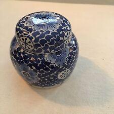Royal Delft Porcelain Blue & White Blue Small Ginger Jar Vintage