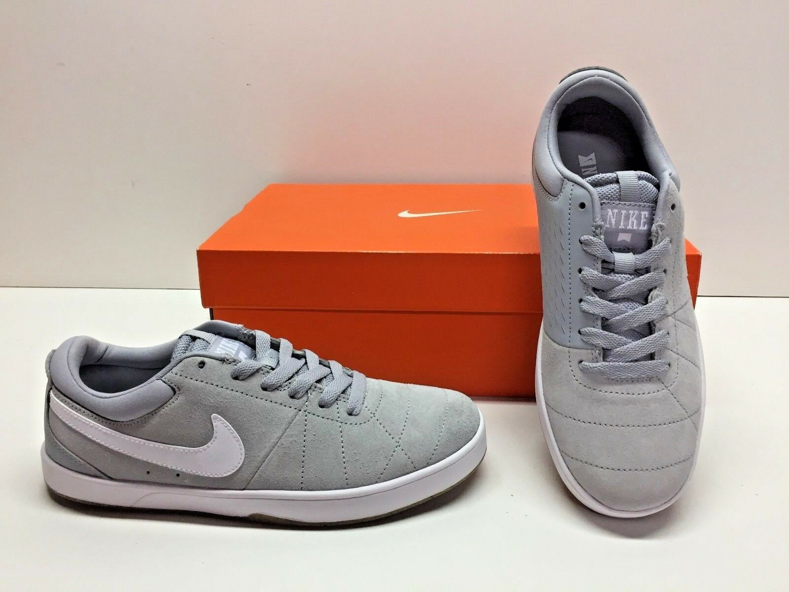 Nike SB Rabona Training Casual Gray White Suede Sneakers Shoes Mens 6.5 Womens 8