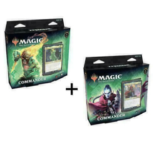 MTG Zendikar Rising Commander Deck Set of 2 Both Decks SEALED New Magic IN STOCK