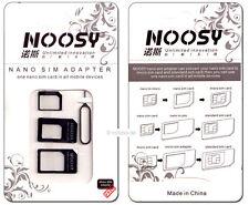 3 SIM Karten Adapter: Nano > Micro > Mini > Standard + Auswurfpin, schwarz