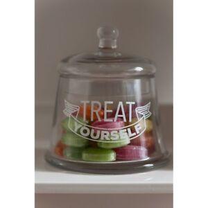 BARATTOLO di stoccaggio in vetro trasparente forma campana design negozio preservare Caramelle Dolci E Dolcetti  </span>