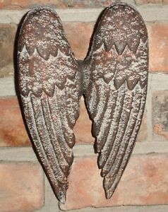 Image Is Loading Cast Iron Angel Wings Wall Decor Garden Decor