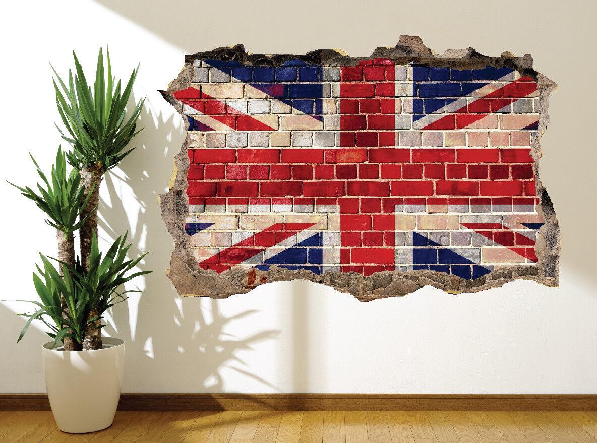 Union Jack Graffiti Brique Autocollant Mural Super Art (15194918) Super Mural Britain's 5edc5c