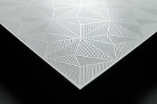 WaterProof PVC Ceiling Tiles - EcoTile Matrix 2' x 2' White Lay-in Tile