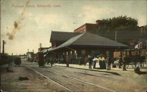 Willimantic-CT-RR-Train-Station-Depot-c1910-Postcard