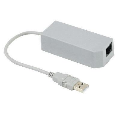 LAN Network Adapter Connector USB Internet Ethernet For Nintendo Wii/Wii U/PC UL