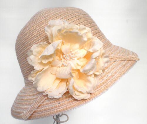 Damen Hut romantisch Glockenhut Cloche Urlaub Sonne Hut Kofferhut Reisehut