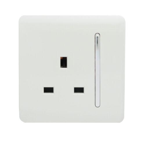 Trendi interrupteur design moderne Blanc Designer Plug Sockets Simple Double /& USB