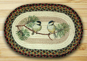 CHICKADEES-100-Natural-Braided-Jute-Placemat-13-034-x-19-034-by-Earth-Rugs