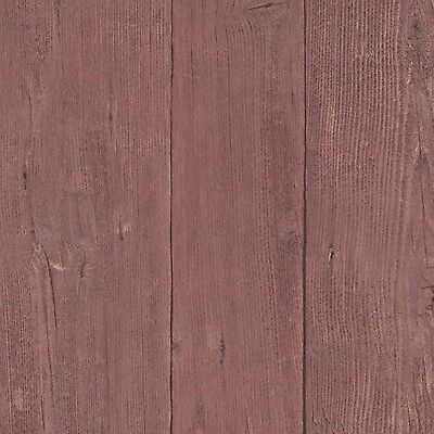 Erismann Deluxe Countryside Mahogany Wood Panel Effect Texture Wallpaper 5820-16