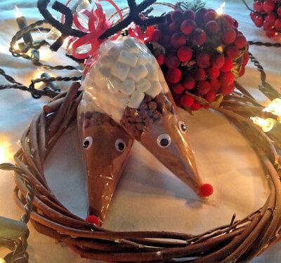 Christmas Eve Box Reindeer hot chocolate cones stocking filler Secret Santa gift