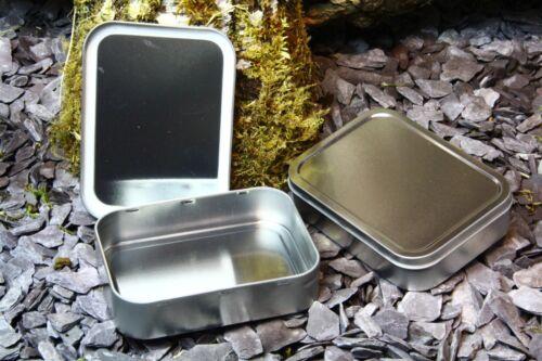 50g TOBACCO TIN Baccy Survival Kit Plain Stash Food Kitchen Screws METAL 2OZ