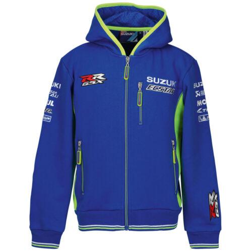 2019 MotoGP KIDS YOUTH Zip Front Hoody New Suzuki Genuine Casual Clothing
