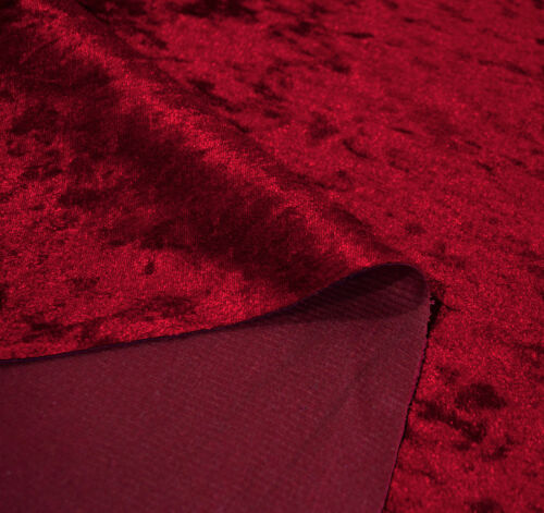 Mv27r Hot Red Diamond Crushed Velvet 3D Round Seat Cushion Cover Custom Size