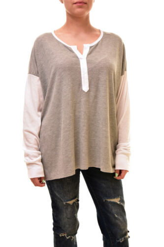 Ronnie £89 Rrp S Size Grey Women's Wildfox Henley Authentic Shirt Bcf84 aHRxwESq