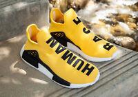 Adidas, X Pharrell Williams NMD HU Human Race New Yellow  Runing Shoes  BB0617