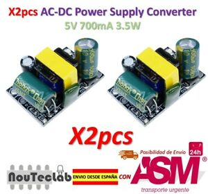 2pcs AC-DC 5V 700mA 3.5W AC 220V to 5V DC Step Down Power Supply Module