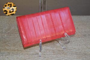 New-BOUTIQUE-SYDNEY-Luxury-Watermelon-Eel-Skin-Designer-Tri-Fold-Wallet-ECO-CHIC