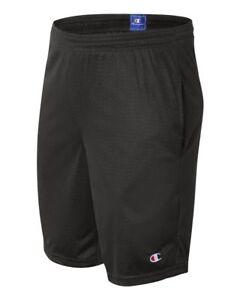Champion Mens Long Mesh Shorts with Pockets L S162 Black