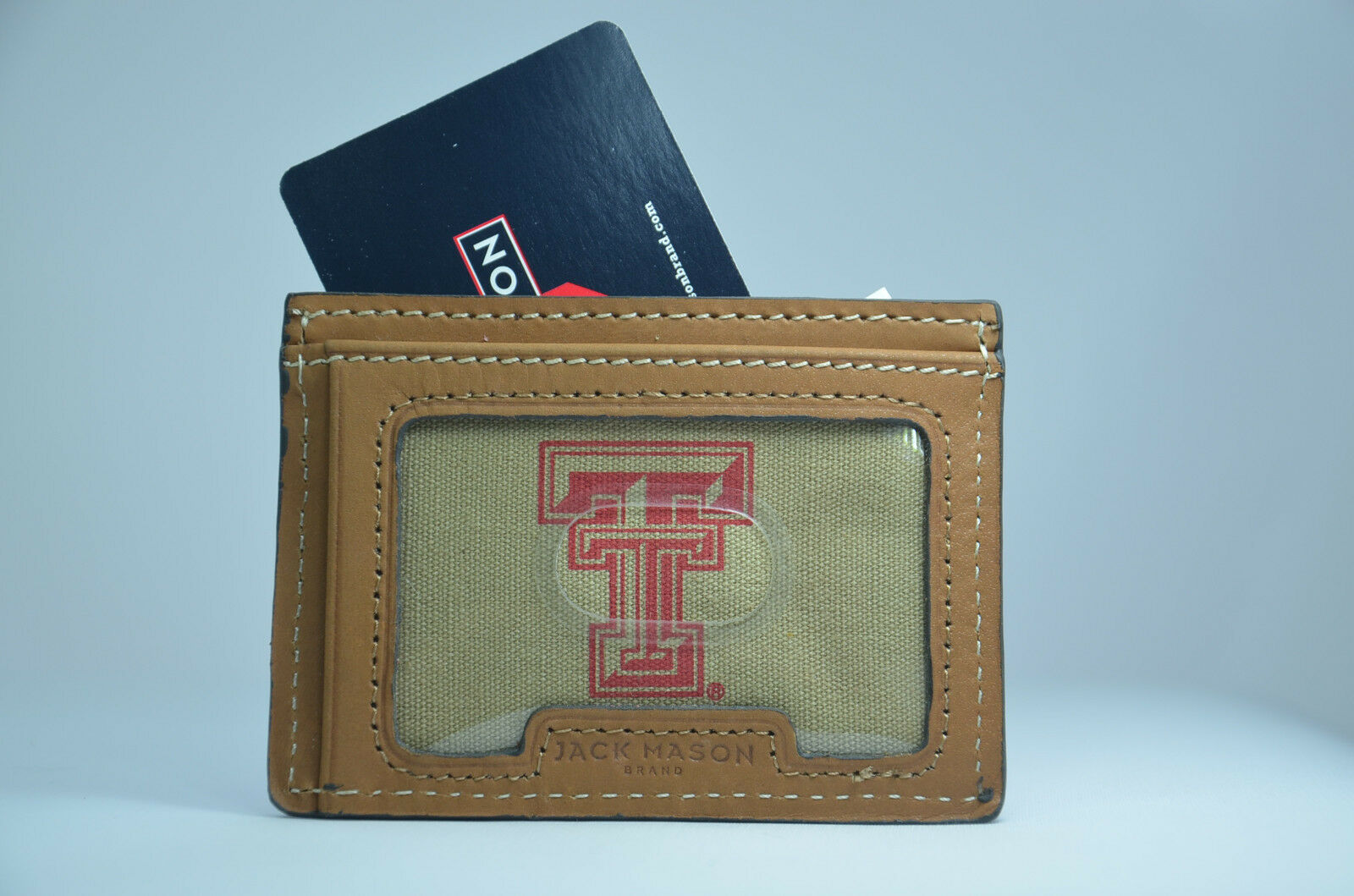 ZEP-PRO Texas Tech Red Raider Crazy Horse Leather LONG Roper WALLET Tin Gift Box