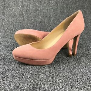 e6a7635cf93 Details about Womens Size 6.5 Ivanka Trump Pink Suede High Heels Stilettos