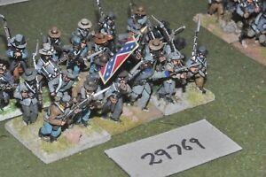 25mm Acw / Confederate - Regiment 24 Figures Inf (29769)