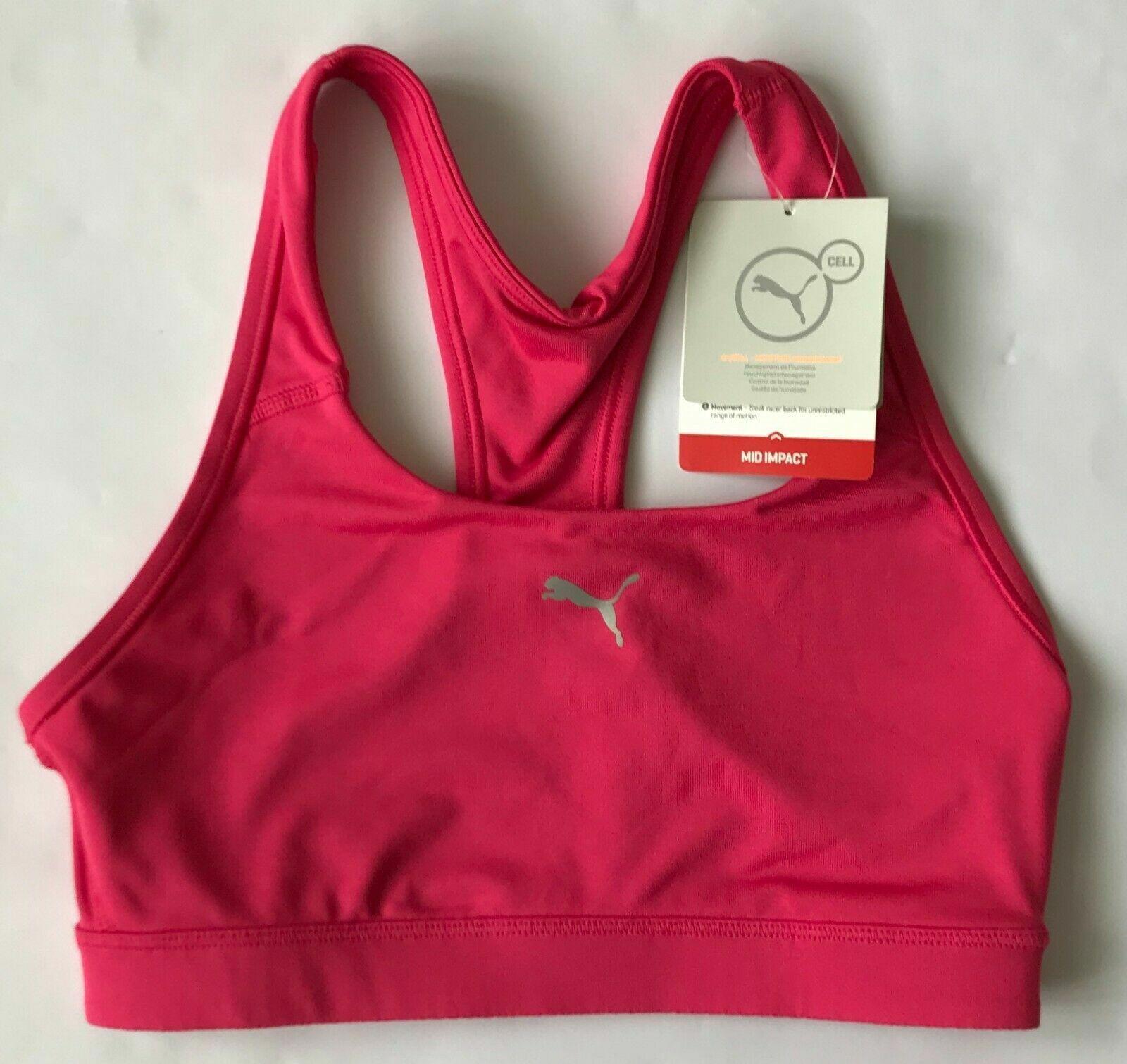 Puma Women's Power Shape Forever Sparkling Cosmo Sports Bra 513965 Size UK 10