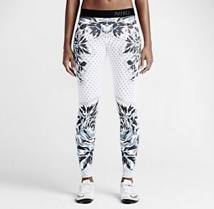 304f747861d3d NIKE Pro Floral Dot Gym Leggings Size Extra Small RRP £90   eBay