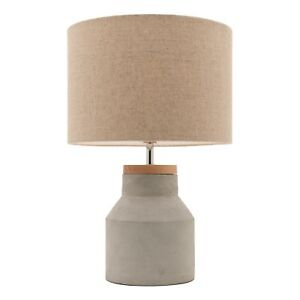 Mercator-MOBY-TABLE-LAMP-250x410x250mm-Suits-E27-Max-60W-Globe-Timber-amp-concrete