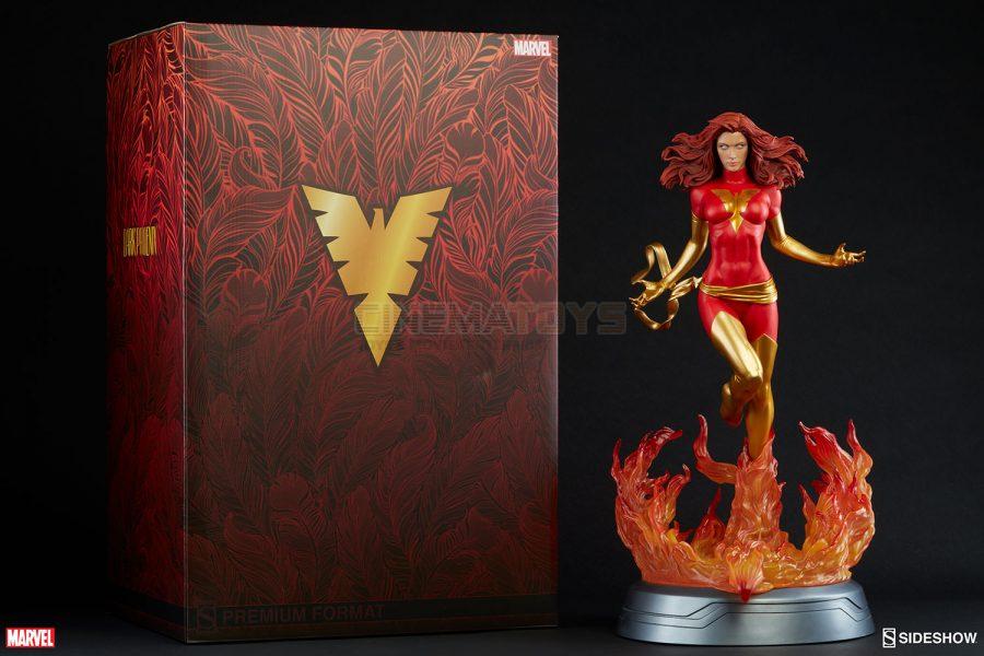 Marvel X-men Jean Grau Dark Phoenix Fenice Premium Format Figure Sideshow Statue