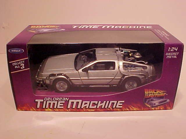 1 24 Back To The Future Iii Delorean Time Machine Die Cast Car Model Welly 22444 Ebay