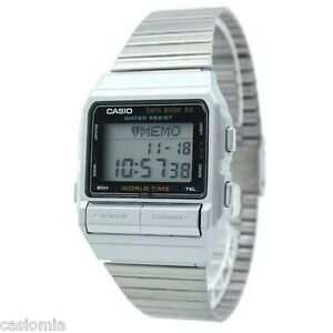 Casio-DB520A-1-Databank-Mens-Stainless-Steel-Watch-50-Page-Telememo-RARE-NEW