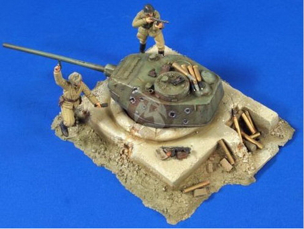 Verlinden 1   35VP 2773 Vignette Alemán Bunker con T 34 Torre