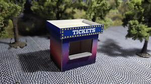 2-ticket-house-Scale-H0-1-87-Lasercut-Kit-funfair-Kirmeskasse