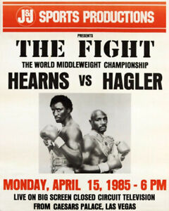 Marvelous Marvin Hagler With Belt Boxing POSTER