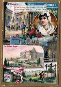 Spain-Madrid-Alhambra-Palais-Royal-PRETTY-c1895-Trade-Ad-Card